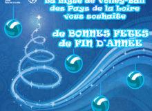 La Ligue de Volley-Ball des Pays de la Loire vous souhaite de bonnes fêtes de fin d'année !