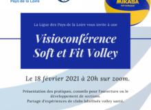Première visioconférence de la Ligue ! Des conseils pour développer le Soft et le Fit Volley.