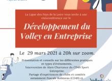 Deuxième visioconférence Sport Pour Tous ! Des conseils pour développer le volley en Entreprise.